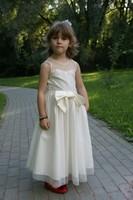 """Платье для девочки """"Жаклин"""" Молочное 1210"""
