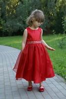Нарядное платье для девочки Бабочка Красное 1198