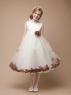 Детское платье с Коричневыми Лепестками Роз KD-160