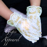 Нарядные Кружевные перчатки для девочки Молочные M 388