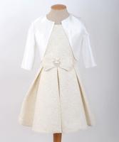 """Нарядное платье для девочки с болеро """"Моннализа"""" Золотое 7822"""
