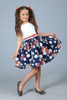 """Платье для девочки """"Герда"""" Синее 0747"""