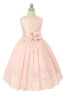 """Платье для девочки """"Вафельное"""" Розовое KD-254"""