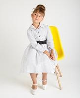 """Детское нарядное платье с рукавом """"Мадонна"""" Белое 1712"""