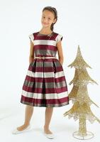 """Нарядное платье для девочки """"Каприз"""" Бордовое 6652"""