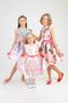 """Нарядное платье для девочки """"Сицилия"""" Розовое 1808"""