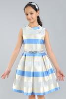 """Нарядное платье для девочки """"Ива"""" Голубое 1801"""