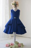 """Детское платье для девочки """"Мари"""" Синее J-1239"""