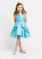 """Детское платье для девочки """"Мари"""" Голубое J-1239"""