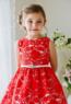 """Платье для девочки """"Принцесса"""" Красное J1244"""