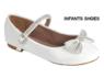 Нарядные лаковые туфли для девочки с пряжкой Белые 60К