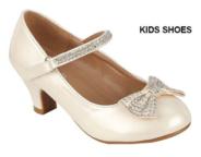 Нарядные лаковые туфли для девочки на каблуке Молочные 60
