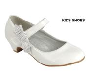 Нарядные туфли для девочки с пряжкой Белые KF-LYDIA-20К
