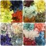 Детское платье с Разноцветными Лепестками Роз (Темно-Лавандовый/Малиновый) KD-160