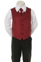 """Детская жилетка с галстуком для мальчика """"Точка"""" Бордовая V-001"""