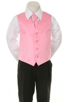 Детская жилетка с галстуком для мальчика Фуксия V-002