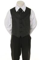 Детская жилетка с галстуком для мальчика Черная V-002