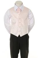 Детская жилетка с галстуком для мальчика Нежно-розовая V-002