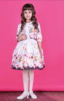 """Нарядное платье для девочки с болеро """"Лина """" Молочное 0116"""