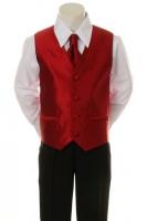 Костюм для мальчика Жилетка с Брюками (Красная) KD-5005