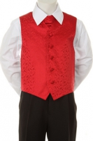 Детская жилетка с галстуком для малыша Красная V-002