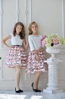 Нарядное платье для девочки Розовое 306