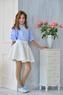 Нарядная Юбка для девочки Розовая 337