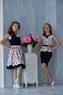 Нарядное платье для девочки Синее 374