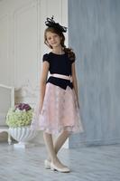 Нарядное платье для девочки Синее 368
