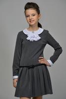 Школьное платье для девочки Графитовое 14