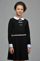 Школьное платье для девочки Черное 25