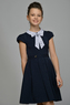 Школьное платье для девочки Синее 9