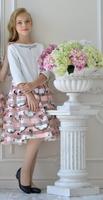 Нарядный комплект для девочки Джемпер/Юбка Розовый 307/308