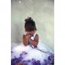 Детское платье с Лепестками Темно-Лавандовой розы  KD-160