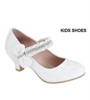 """Нарядные лаковые туфли для девочки """"На каблуке"""" Белые AA-SASSIE-33K"""