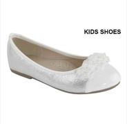 """Нарядные туфли """"Балетки"""" для девочки Бело-Серебряные AA-STACY-306K"""