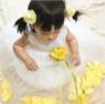 Платье для новорожденной девочки с Желтыми Лепестками Роз KD-160B