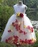 Детское платье с Разноцветными Лепестками Роз KD-160