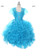"""Детское нарядное платье """"Императрица"""" Голубое 1022"""