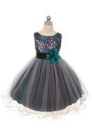 """Платье для девочки """"Барбара"""" Хамелеон Бирюзовое KD-327"""