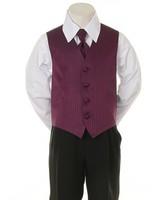 """Детская жилетка с галстуком для мальчика """"Точка"""" Фиолетовая V-001"""