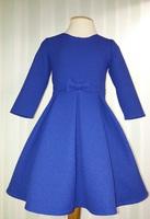 """Платье для девочки с длинным рукавом """"Вероника"""" Синее 2116"""